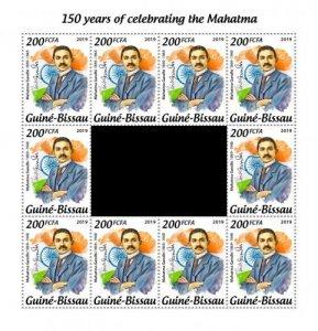 GUINEA BISSAU - 2019 - Mahatma Gandhi, 150th Birth Anniv -Perf 10v Sheet - M N H