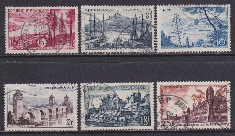 France (1955) #774-9 used