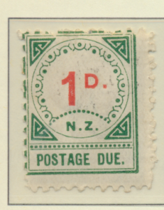 New Zealand Stamp Scott #J2, Mint Hinged, Small D, Small NZ - Free U.S. S...