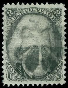 momen: US Stamps #93 Used XF Jumbo 3 PF Certs
