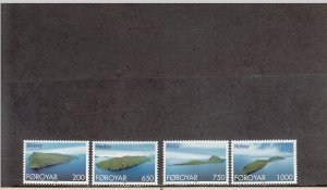 FAROE ISLANDS 383-386 MNH 2014 SCOTT CATALOGUE VALUE $6.65