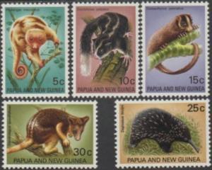Papua New Guinea 1971 SG195-199 Fauna Conservation set MNH