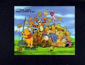 ANTIGUA - 1998 - DISNEY - WINNIE THE POOH - EEYORE ++ - FALL - MINT MNH S/SHEET!