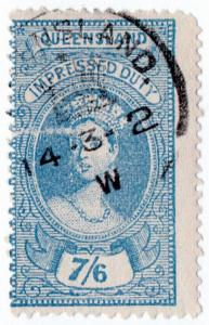 (I.B) Australia - Queensland Revenue : Impressed Duty 7/6d