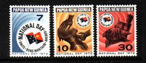 Papua New Guinea-Sc#352-4-unused NH set-1972-Unity Emblem-