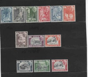 ADEN-QUAITI STATE #29-40  1955  PICTORIAL SET   MINT VF LH  O.G