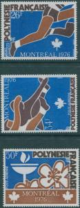 French Polynesia 1976 SG221-223 Olympic Games set MNH