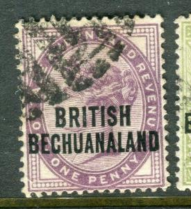 BECHUANALAND; 1891 early classic QV issue fine used 1d. value