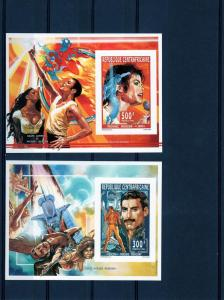 Central African 1995 M.Jackson/E.Presley/M.Monroe/Space 6 SS Imperforated MNH