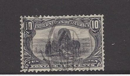 United States, 290, Emigration Gray Violet F-VF Single, **Used**
