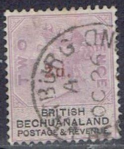 Bechuanaland, Scott #25, 2p on 2p Queen Victoria, Used
