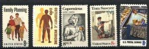 USA 1455,1469,1470,1488,1492   used  PD