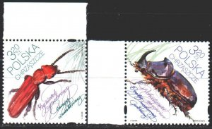 Poland. 2018. 5019-20. Insects, beetle, fauna. MNH.