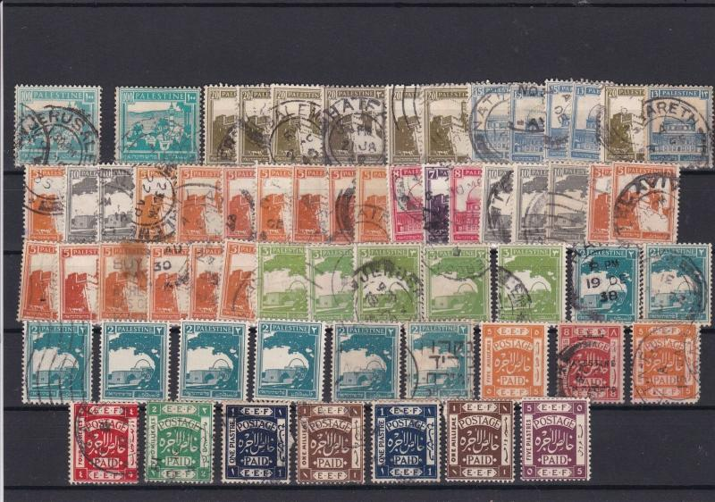 Palestine Mounted Mint & Used Stamps ref 22301