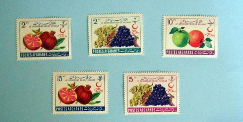 Afghanistan - B42-46, MNH Set. Fruit. SCV - $2.50