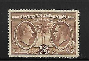 CAYMAN ISLANDS, 69, MINT HINGED, KING WILLIAM IV, KING GEORGE V