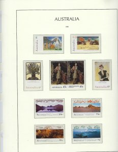 AUSTRALIA- ALMOST COMPLETE 1996-2003-MINT NH -LIGHTHOUSE HINGELESS PAGES/BINDER
