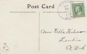 United States Minnesota Plummer 1909 4a-bar  PC  Small creases at bottom left...