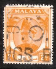 Malaya Selangor 1949 Sc 81 2c Used