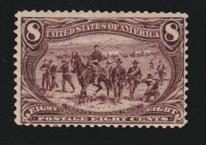 US 289 8c Trans-Mississippi Mint Fine OG H SCV $140