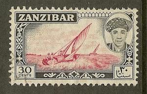 Zanzibar, Scott #269, 30c Dhows, Used