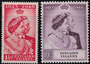 Pitcairn Islands SC11-12 Silver Wedding Issue-KingGeorgeVI-QueenMary (H)1949