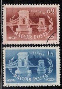 Hungary Scott 862-863 used  Bridge stamps