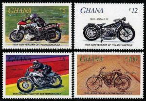 HERRICKSTAMP GHANA Sc.# 975-78 Motorcycles