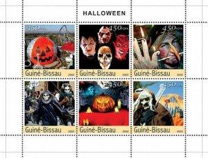 Guinea-Bissau MNH S/S Halloween 2003 6 Stamps BOOO!!!!