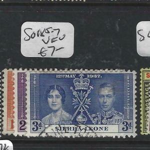 SIERRA  LEONE (PP3105B)  KGVI  C ORONATION  SG 185-7   VFU