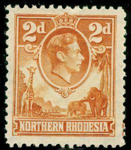 NORTHERN RHODESIA SG31, 2d yellow-brown, LH MINT. Cat £50.