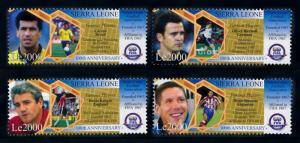 [76914] Sierra Leone 2004 Football Soccer Famous Players Keegan Sheet MNH