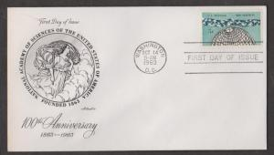 UNITED STATES - Scott # 1237 FDC 100th Ann Academy Of Sciences- Artmaster Cachet