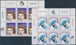 Makedonien stamp Europa CEPT, Famous Women corner blocks of 6 1996 WS183067