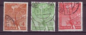 J24914 JLstamps 1952 germany occupation set used #9n81-3 olympics