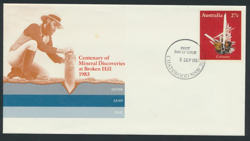 Australia PrePaid Envelope 1983  Centenary of Mineral Discoveries in Broken Hill