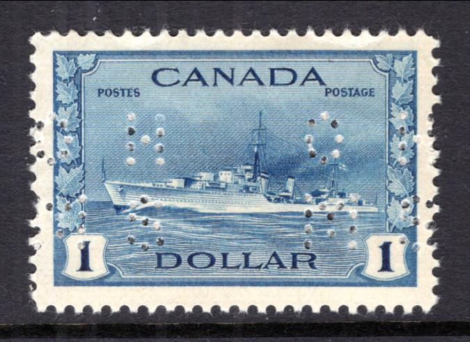 Canada O262 Official Perfin Ship MNH VF