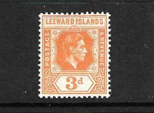 LEEWARD ISLANDS 1938 3d KGVI  MLH SG 107