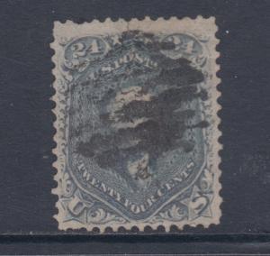 US Sc 70b used 1861 24c steel blue Washington