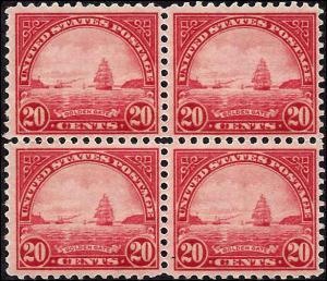 698 Mint,OG,NH...Block of 4... SCV $50.00
