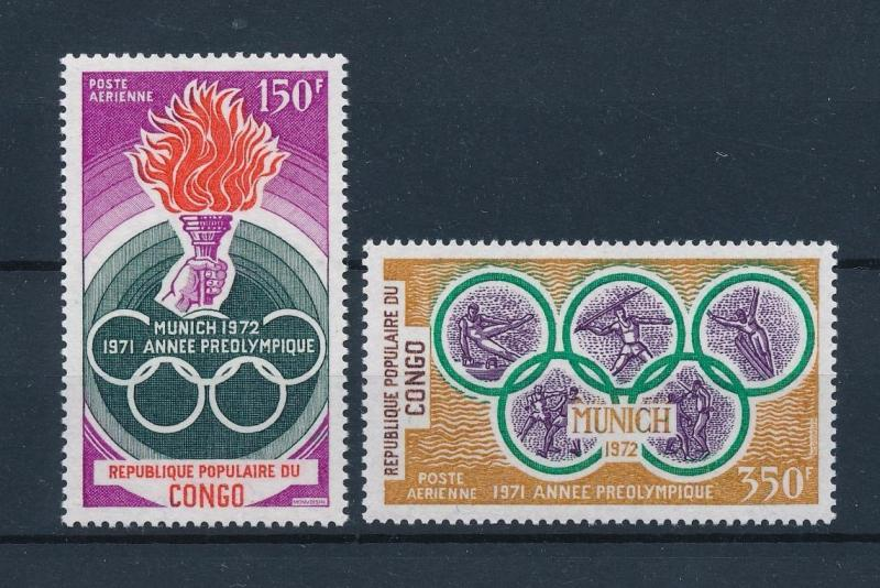 [55462] Congo Brazzaville 1971 Olympic games Munich Gymnastics Fencing MNH