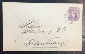 Chile envelope cancel date 1894 (used)