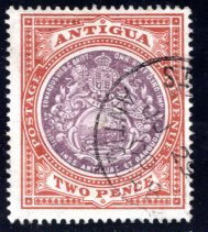 Antigua #23, Used, CV $27.50   ........   0260020
