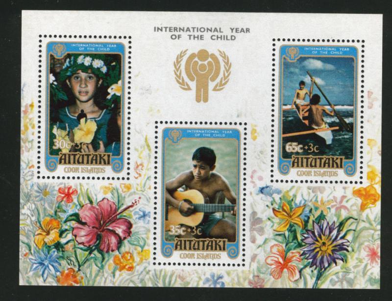 Aitutaki Cook Islands Scott B31 Year of Child sheet 1979
