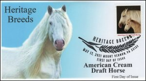 21-155, 2021, Heritage Breeds, First Day Cover, Pictorial Postmark, American