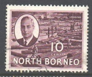 North Borneo Scott 250 - SG362, 1950 George VI 10c used