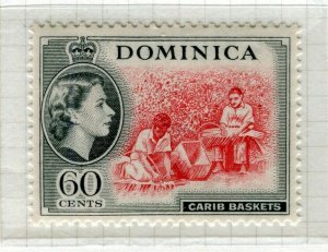 DOMINICA; 1954 early QEII issue fine Mint hinged 60c. value