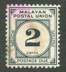 FEDERATION OF MALAYA #J29 USED