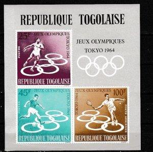 1964 Togo Scott C43a Olympics MH crease