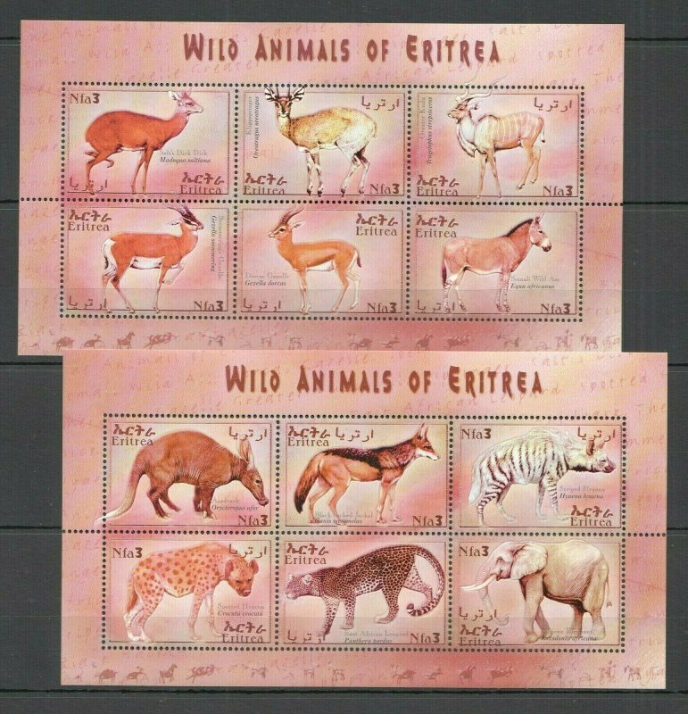 QQ114 ERITREA FAUNA WILD ANIMALS OF ERITREA 2KB MNH